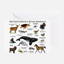 South Carolina State Animals Greeting Card