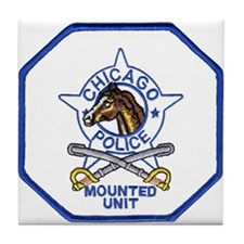 Chicago Mounted Police Tile Coaster
