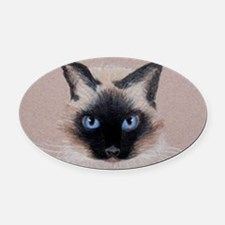 Cute Blues cat Oval Car Magnet