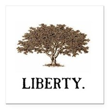 "The Liberty Tree Square Car Magnet 3"" x 3"""