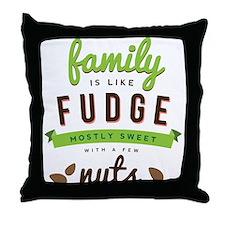 Funny Family Fudge Throw Pillow