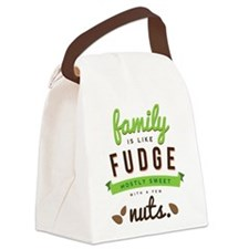Funny Family Fudge Canvas Lunch Bag