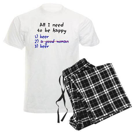 All I need to be happy Men's Light Pajamas