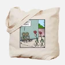 Punk Flowers Tote Bag