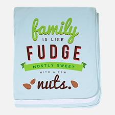 Funny Family Fudge baby blanket