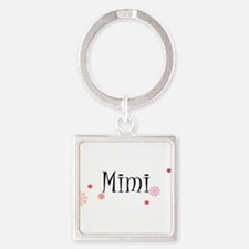 Mimi Retro Square Keychain