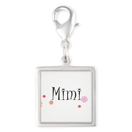 Mimi Retro Silver Square Charm