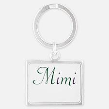 Mimi Green and Purple Landscape Keychain