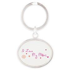 I love My Mimi Oval Keychain