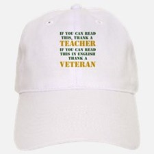 If you can read this thank teacher Baseball Baseball Cap