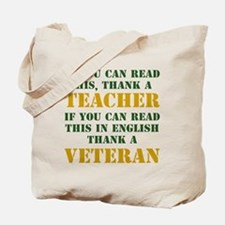 If you can read this thank teacher Tote Bag