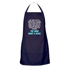Life should not be a boring trip Apron (dark)