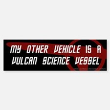 Vulcan Science Vessel (3) Bumper Bumper Bumper Sticker