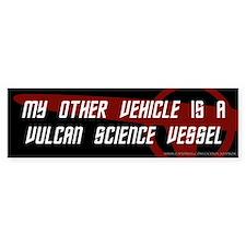 Vulcan Science Vessel (3) Bumper Bumper Sticker