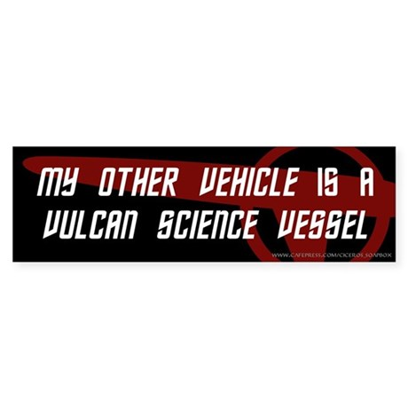 Vulcan Science Vessel (3) Bumper Sticker