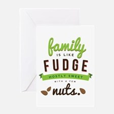 Funny Family Fudge Greeting Card