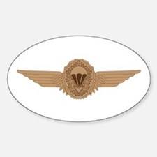 German Parachutist Sticker (Oval)