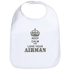 Keep Calm and LOVE Your Airman Bib