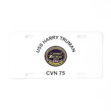 USS Harry Truman CVN 75 Aluminum License Plate