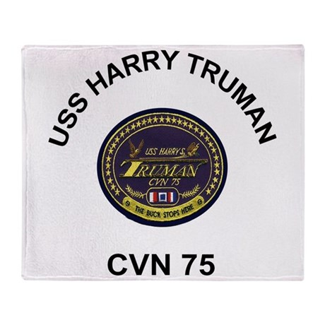 USS Harry Truman CVN 75 Throw Blanket