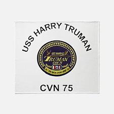USS Harry Truman CVN 75 Throw Blanket