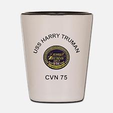 USS Harry Truman CVN 75 Shot Glass