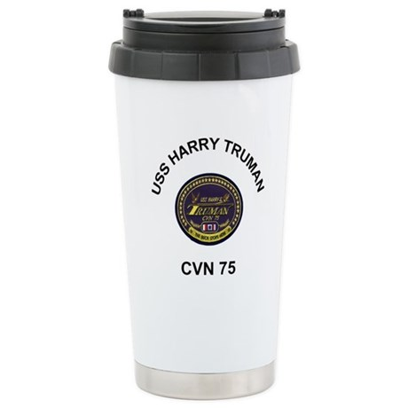 USS Harry Truman CVN 75 Stainless Steel Travel Mug