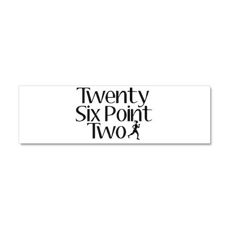 Twenty Six Point Two Marathon Car Magnet 10 x 3
