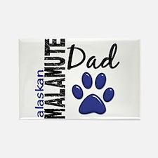 Alaskan Malamute Dad 2 Rectangle Magnet