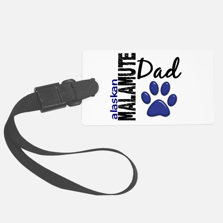 Alaskan Malamute Dad 2 Luggage Tag