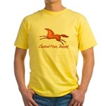 chestnut mare horse apparel Yellow T-Shirt