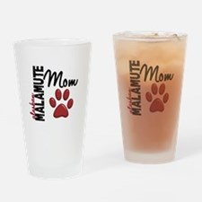 Alaskan Malamute Mom 2 Drinking Glass