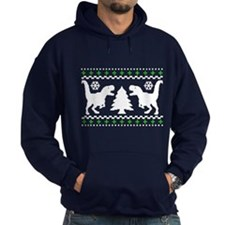 FUNNY! Ugly Holiday T-Rex Sweater Hoody