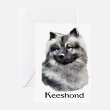 Keeshond Gifts Greeting Cards (Pk of 10)