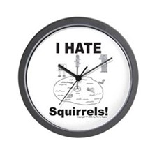 Squirrel Moat Wall Clock