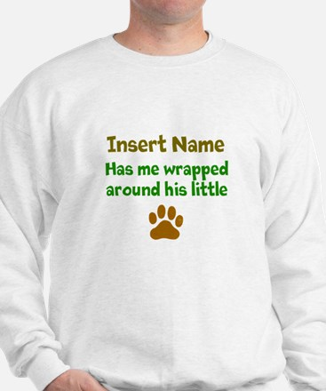 My dog wrapped around finger Sweater