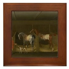 At the Stable Framed Tile