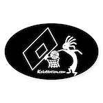 Kokopelli Basketball Player Oval Sticker