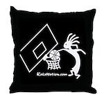 Kokopelli Basketball Player Throw Pillow