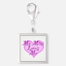 My Mimi Loves Me Silver Square Charm
