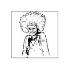 "Phyllis Diller Illustration Square Sticker 3"" x 3"""