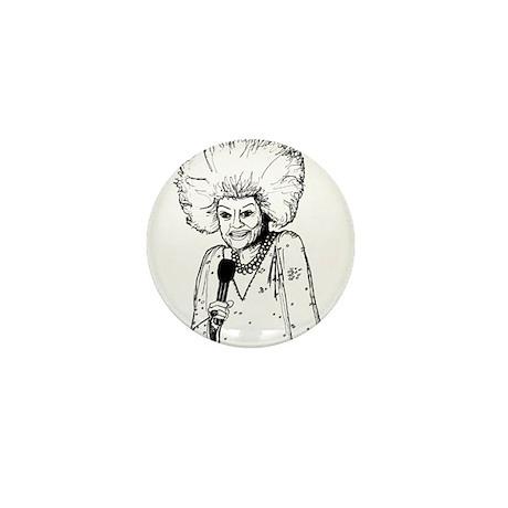 Phyllis Diller Illustration Mini Button