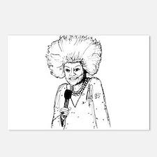 Phyllis Diller Illustration Postcards (Package of