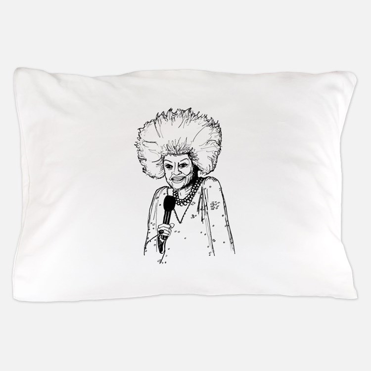 Phyllis Diller Illustration Pillow Case