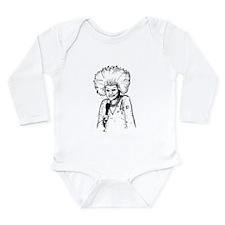 Phyllis Diller Illustration Long Sleeve Infant Bod