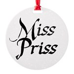 Miss Priss Round Ornament