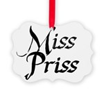 Miss Priss Picture Ornament