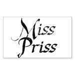 Miss Priss Sticker (Rectangle 50 pk)