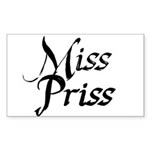 Miss Priss Sticker (Rectangle 10 pk)