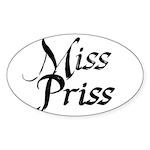 Miss Priss Sticker (Oval)